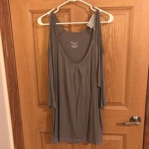 Lane Bryant gray with silver accents shirt